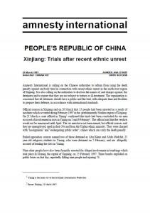 21 March 1997 Amnesty International